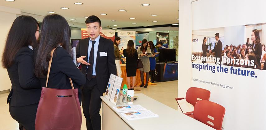 Visitors Who Stopped By HKICSs Booth Wanted To Find Out About The Main Responsibilities Of A Company Secretary Photos Ivan Wong Eden Ng
